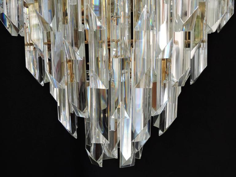 Mid Century Modern Foyer Light : Mid century modern murano glass prism and brass foyer