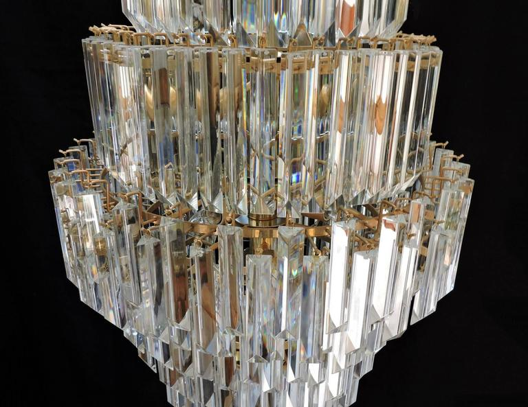 Mid Century Modern Foyer Light : Mid century modern murano glass prism and brass foyer