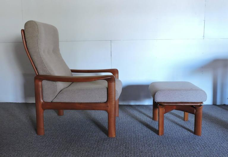 Groovy Mid Century Danish Modern Komfort Teak Lounge Chair And Pabps2019 Chair Design Images Pabps2019Com