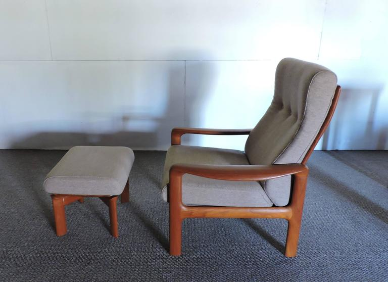 Pleasing Mid Century Danish Modern Komfort Teak Lounge Chair And Pabps2019 Chair Design Images Pabps2019Com
