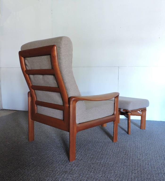 Super Mid Century Danish Modern Komfort Teak Lounge Chair And Pabps2019 Chair Design Images Pabps2019Com