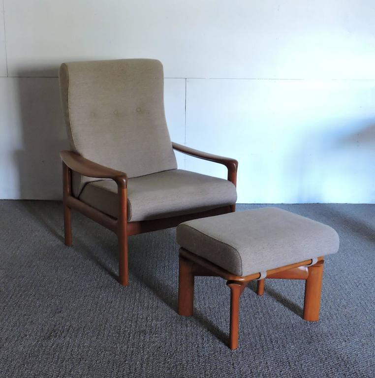 Strange Mid Century Danish Modern Komfort Teak Lounge Chair And Pabps2019 Chair Design Images Pabps2019Com