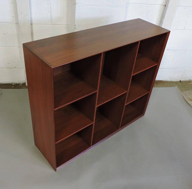 Midcentury Danish Modern Peter Hvidt Solid Teak Bookcase For Sale 2