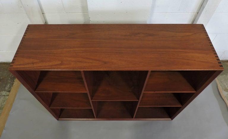 Midcentury Danish Modern Peter Hvidt Solid Teak Bookcase For Sale 3