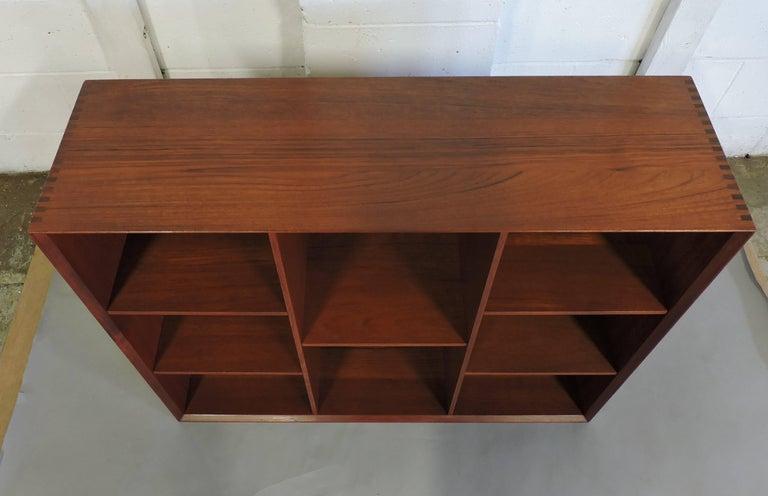 Midcentury Danish Modern Peter Hvidt Solid Teak Bookcase For Sale 4