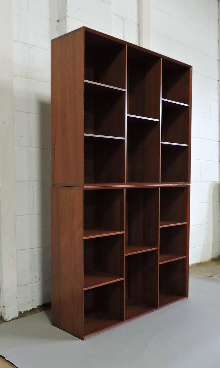 Midcentury Danish Modern Peter Hvidt Solid Teak Bookcase For Sale 5