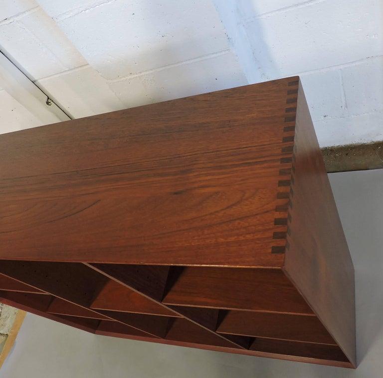Midcentury Danish Modern Peter Hvidt Solid Teak Bookcase For Sale 1