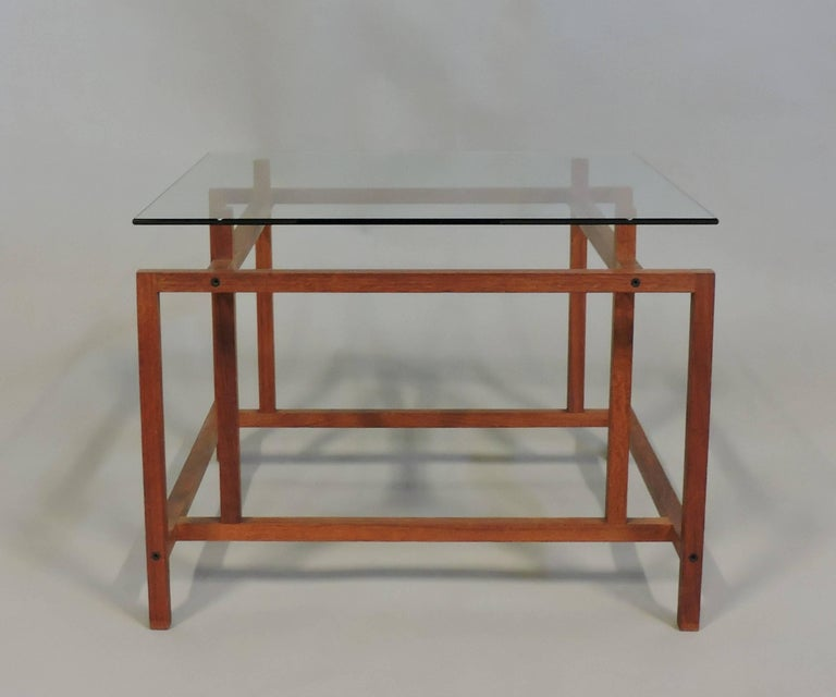 Mid-20th Century Danish Modern Teak and Glass Side End Table by Henning Norgaard for Komfort