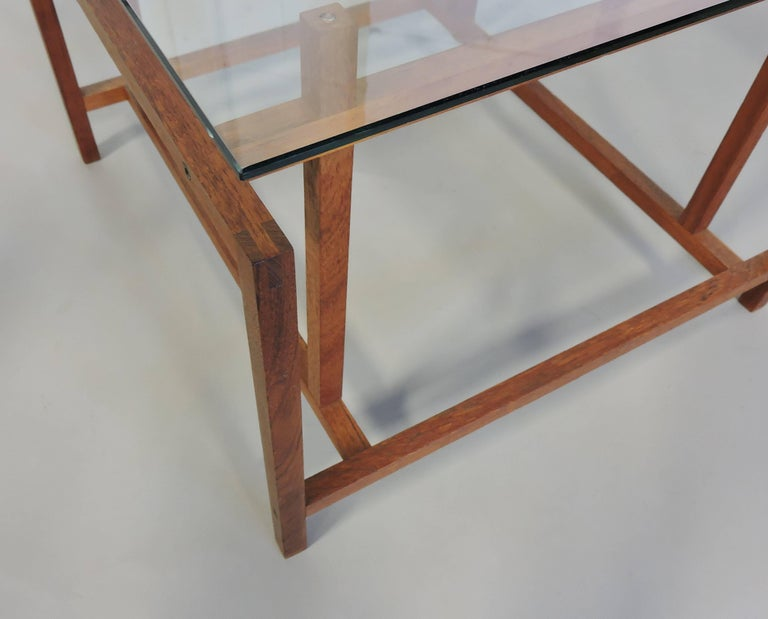 Danish Modern Teak and Glass Side End Table by Henning Norgaard for Komfort 1