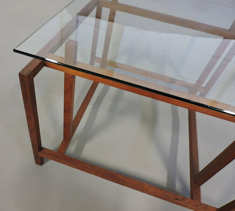 Danish Modern Teak and Glass Side End Table by Henning Norgaard for Komfort 2