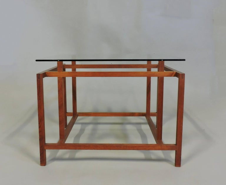 Danish Modern Teak and Glass Side End Table by Henning Norgaard for Komfort 3