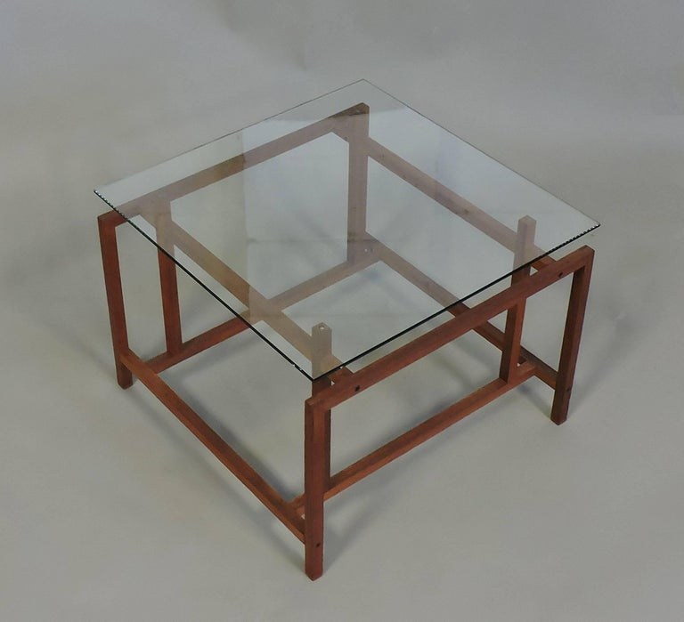 Danish Modern Teak and Glass Side End Table by Henning Norgaard for Komfort In Good Condition In Chesterfield, NJ