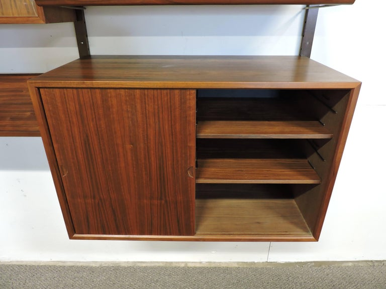 Poul Cadovius Midcentury Danish Modern Walnut Cado Royal Modular Wall Unit For Sale 1