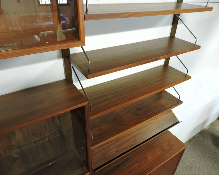 Poul Cadovius Midcentury Danish Modern Walnut Cado Royal Modular Wall Unit For Sale 2