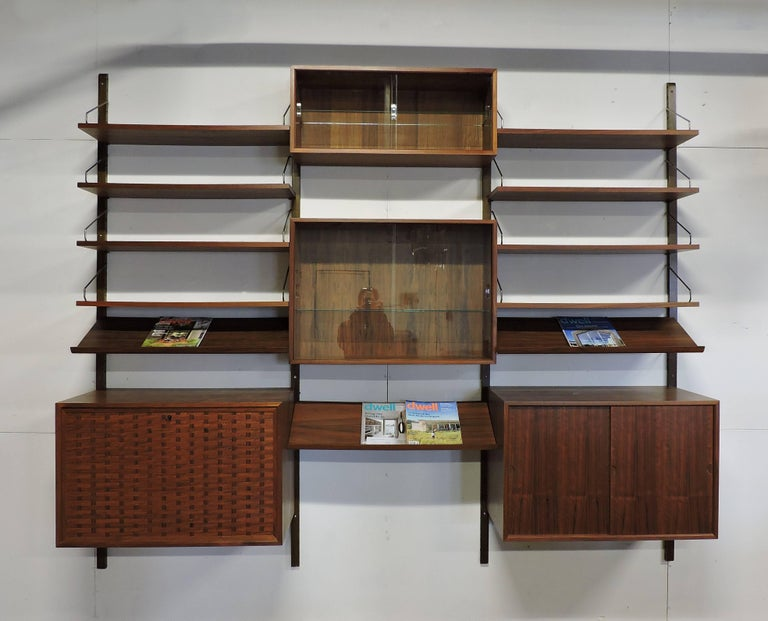 Poul Cadovius Midcentury Danish Modern Walnut Cado Royal Modular Wall Unit For Sale 5