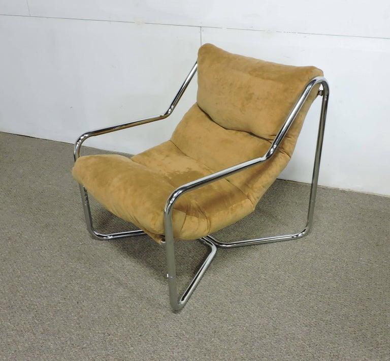 Mid Century Modern Chrome Sling Lounge Chair At 1stdibs