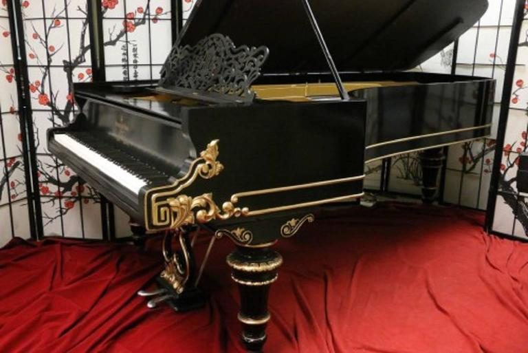 Art Case Steinway Victorian Style Model D Grand Piano 2