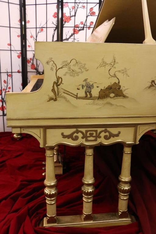 Art Case Piano Chinoiserie Style Hand Painted Masterpiece by Stroud 3