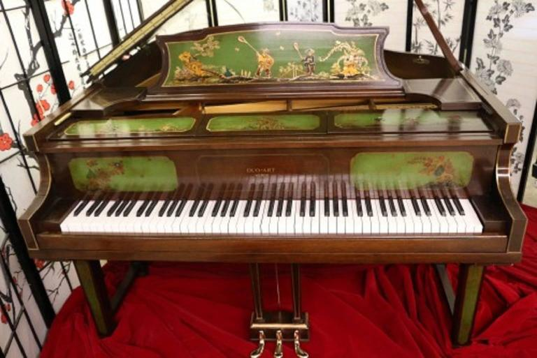 Art Case Piano Chinoiserie Style Hand Painted Masterpiece by Weber 2