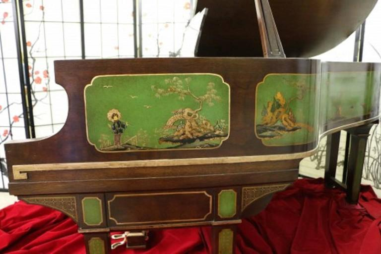 Art Case Piano Chinoiserie Style Hand Painted Masterpiece by Weber 3