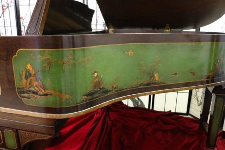Art Case Piano Chinoiserie Style Hand Painted Masterpiece by Weber 4