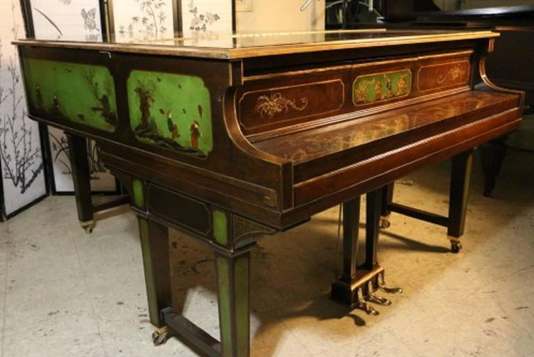 Art Case Piano Chinoiserie Style Hand Painted Masterpiece by Weber 7