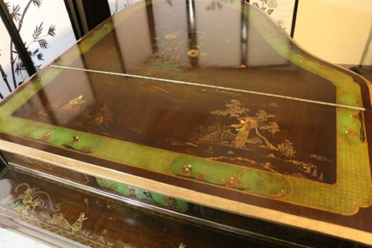 Art Case Piano Chinoiserie Style Hand Painted Masterpiece by Weber 9