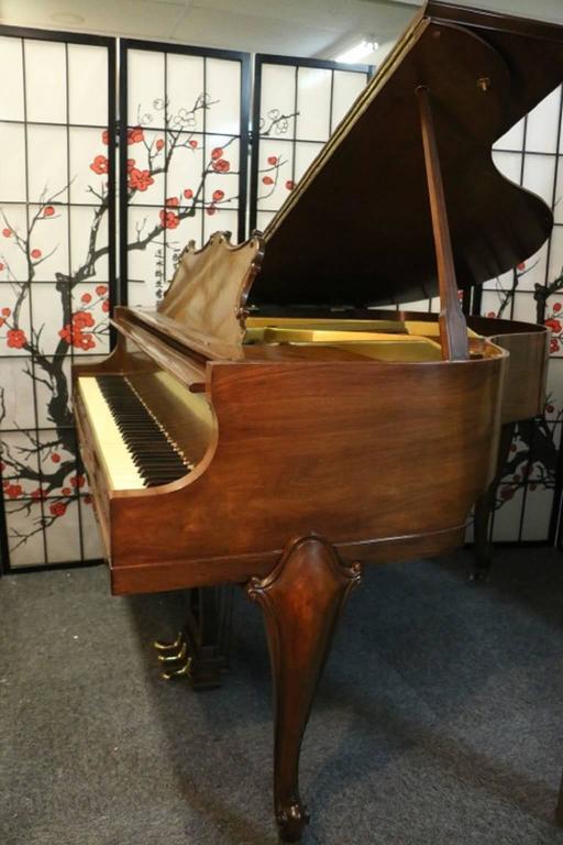 Art Case La Petite Baby Grand Walnut by Winter Piano Company Refin./Refurb 2