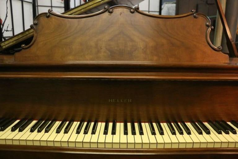 Art Case La Petite Baby Grand Walnut by Winter Piano Company Refin./Refurb 3