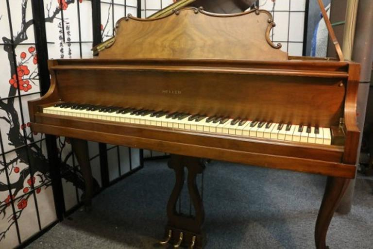 Art Case La Petite Series Walnut Baby Grand Piano 4