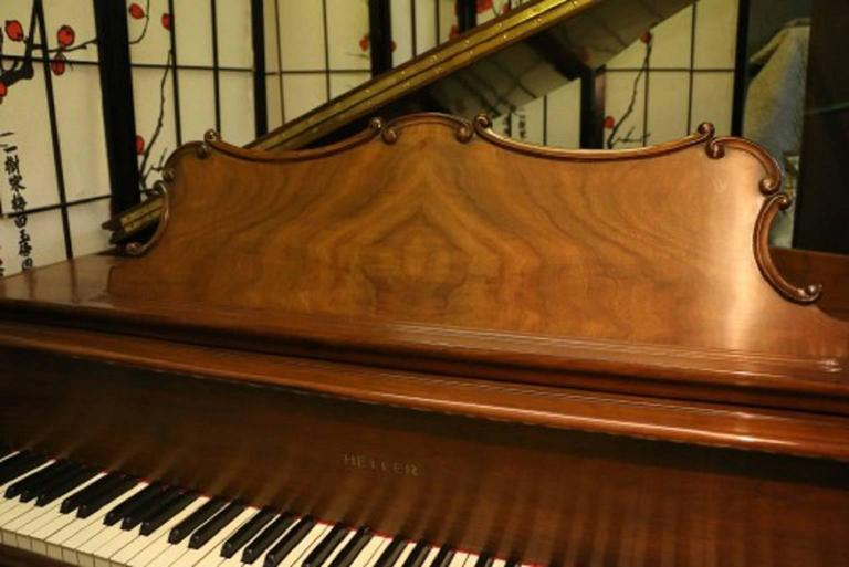 Art Case La Petite Baby Grand Walnut by Winter Piano Company Refin./Refurb 5