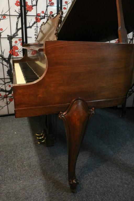 Art Case La Petite Baby Grand Walnut by Winter Piano Company Refin./Refurb 7