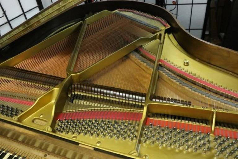 Art Case La Petite Baby Grand Walnut by Winter Piano Company Refin./Refurb 9