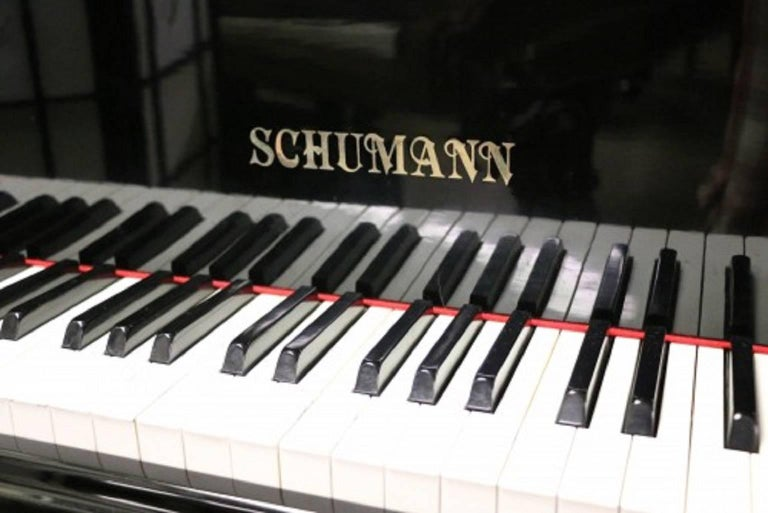 Ebony Gloss Schumann Baby Grand Piano Made by Samick Excellent Inside and Out 2