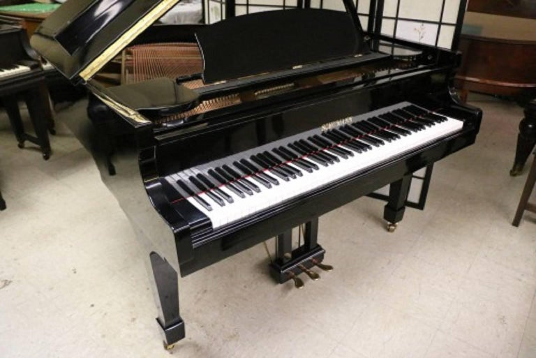 Ebony Gloss Schumann Baby Grand Piano Made by Samick Excellent Inside and Out 3