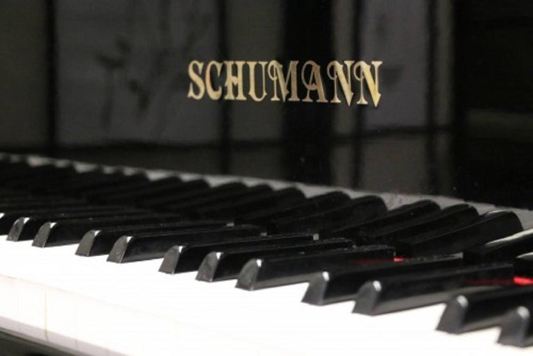 Ebony Gloss Schumann Baby Grand Piano Made by Samick Excellent Inside and Out 4