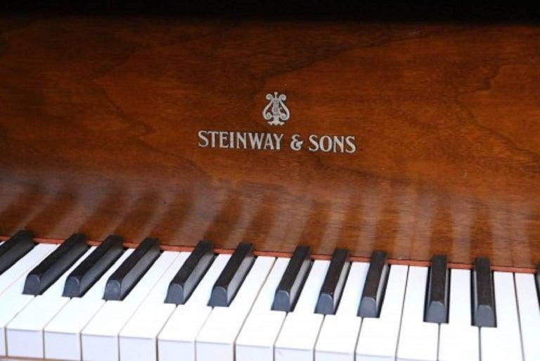 Steinway Dark Walnut Baby Grand Refinished/Refurbished Piano, 2017 2