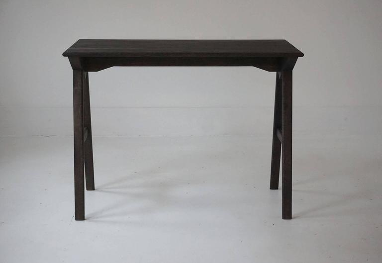 Organic Modern Astral Desk in Oxidized White Oak, Modern Writing / Computer Table For Sale