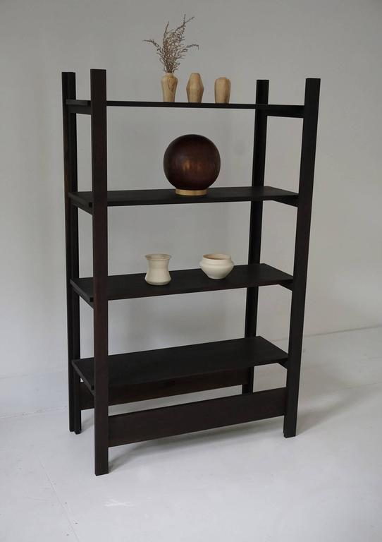 American Upland Shelving Unit, Walnut Modern Minimal Bookshelf or Display Shelves For Sale