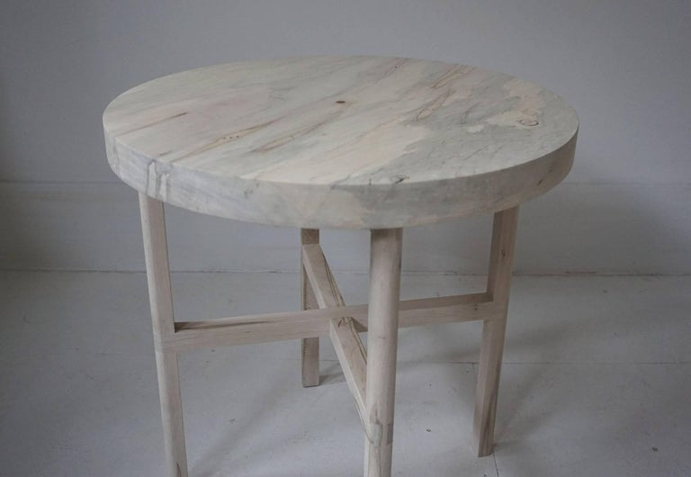 Organic Modern Ox Side Table or Occasional Table in Bleached Ambrosia Maple For Sale