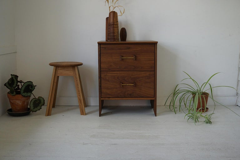 American Phoebe Side Cabinet / End Table For Sale