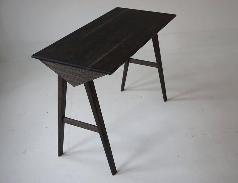 American Astral Desk in Oxidized White Oak, Modern Writing / Computer Table For Sale