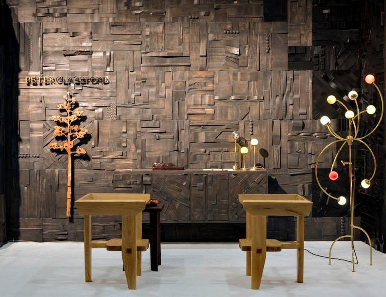 Zufällige Collage Panels, Funktionelle Kunst für die Wand aus Recyceltem Holz 8