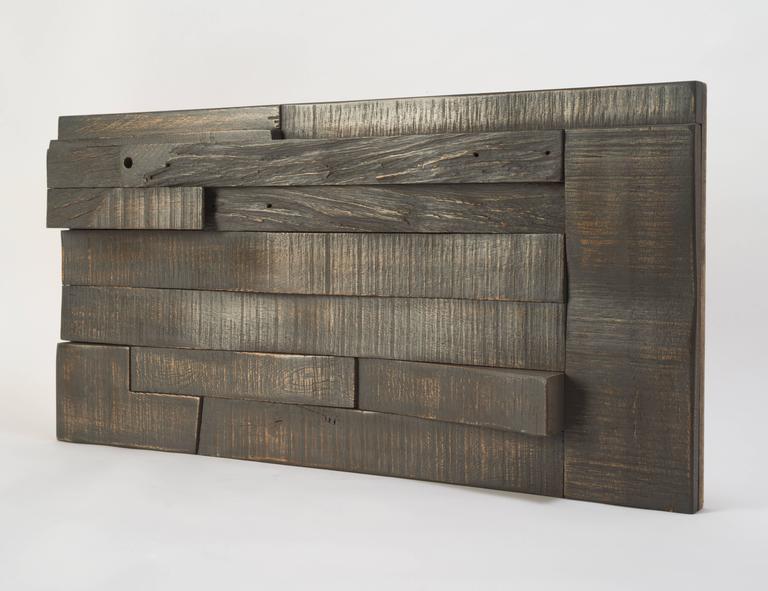 Zufällige Collage Panels, Funktionelle Kunst für die Wand aus Recyceltem Holz 11