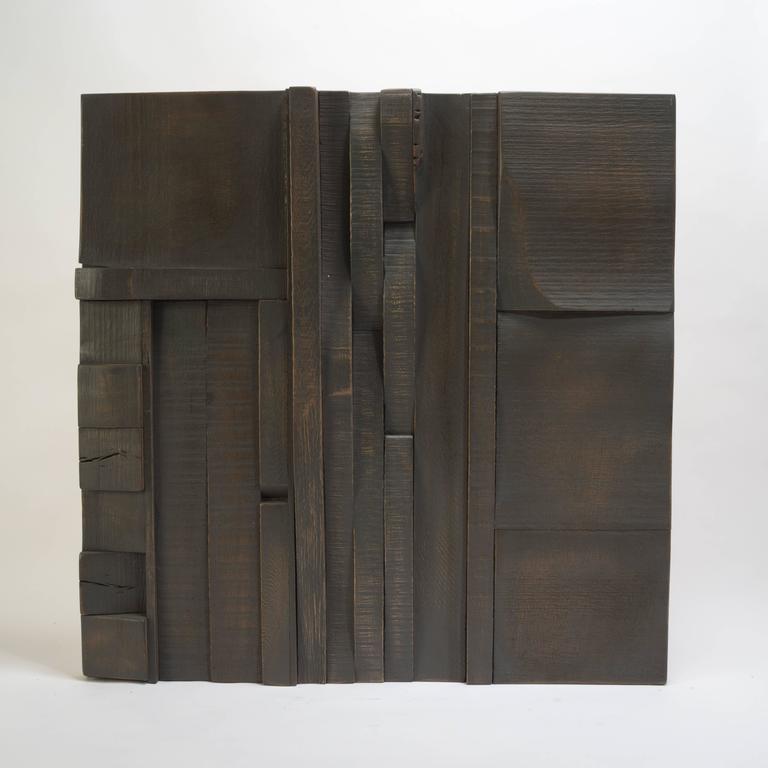 Zufällige Collage Panels, Funktionelle Kunst für die Wand aus Recyceltem Holz 12