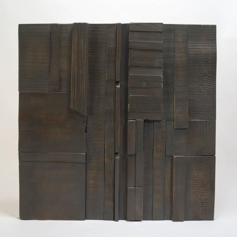 Zufällige Collage Panels, Funktionelle Kunst für die Wand aus Recyceltem Holz 13