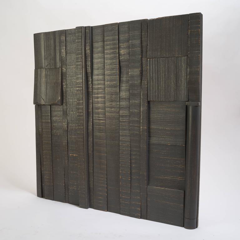 Zufällige Collage Panels, Funktionelle Kunst für die Wand aus Recyceltem Holz 14