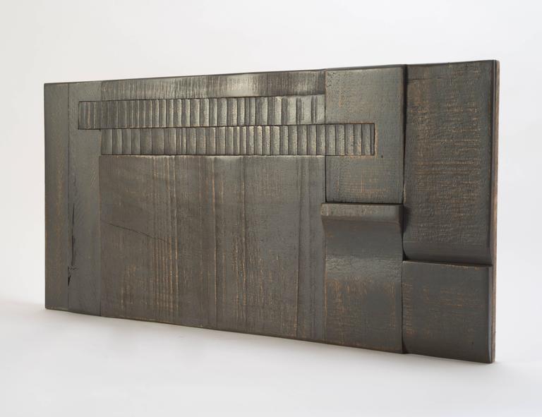 Zufällige Collage Panels, Funktionelle Kunst für die Wand aus Recyceltem Holz 15