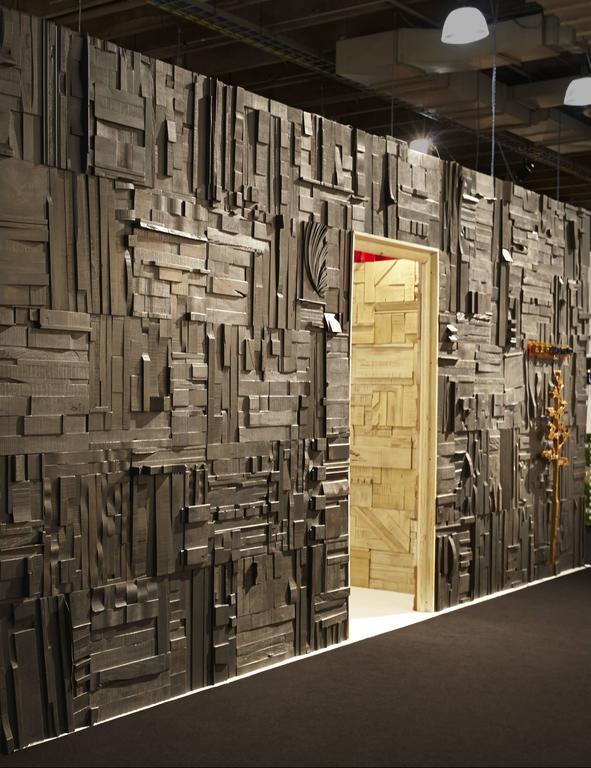 Zufällige Collage Panels, Funktionelle Kunst für die Wand aus Recyceltem Holz 9