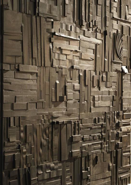 Zufällige Collage Panels, Funktionelle Kunst für die Wand aus Recyceltem Holz 10